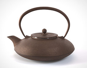 3D Traditional cast iron Japanese teapot