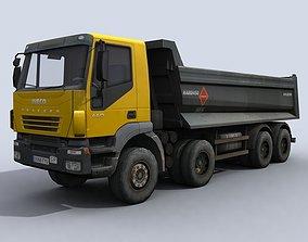 3D model game-ready Dump Truck vehicle