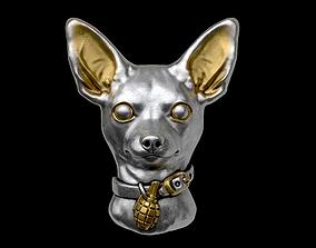 Toy terrier head 3D printable model