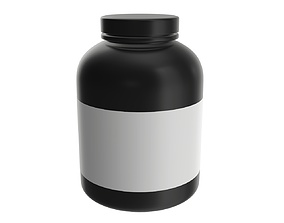 3D model Sport Nutrition Container 06 mockup