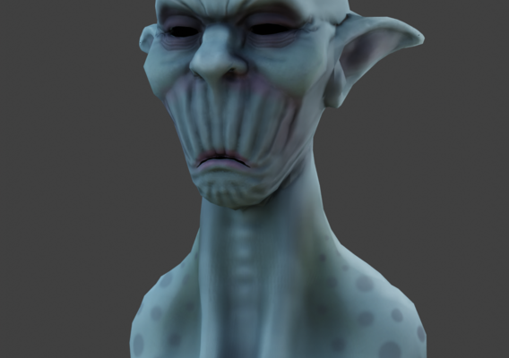 Lowpoly Stylized Character Head
