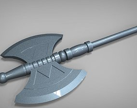 3D printable model He-Man Battle Axe masters of the