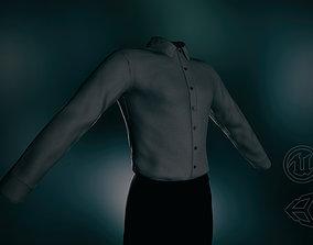 Black Suit Shirt 3D model low-poly