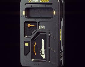 scifi Scifi Spacestation Door 3D Model