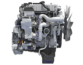 Detroit DD5 Engine 3D model