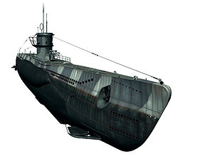 Type VIIc U-Boat 3D