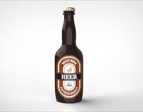 500ml 3D beer bottle