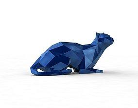 low poly kitty 4 3D print model