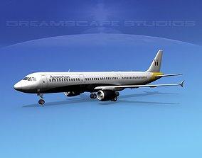 Airbus A321 Monarch 3D