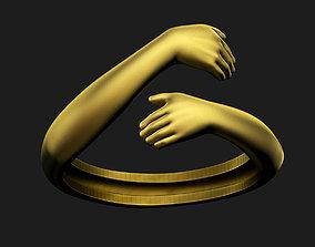 3D printable model Hug Ring love