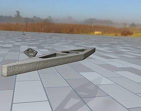 3D model Concrete Power Pole Cross Connection 7 - Object