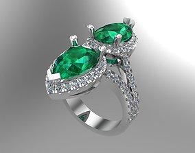 Diamond Pear golden rings NN101 3D print model