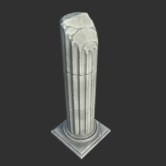 Stylized Broken Roman Column