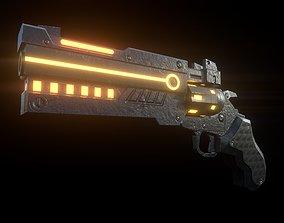 sci-fi gun - LOW POLY 3D asset