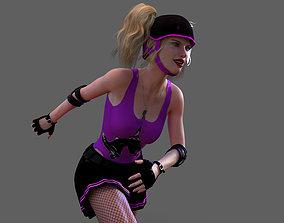 Roller Derby Girl 3D model