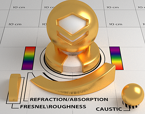 3D asset realtime Gold Shader