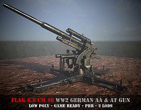 Flak 88 - WW 2 German AA and AT gun - Game 3D asset 2