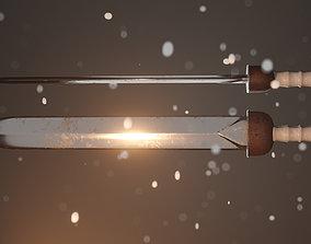 3D asset Medieval Gladius sword