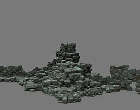 3D asset game-ready Stone Set cliff