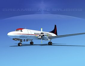 Convair CV-580 Aeroperlas 3D