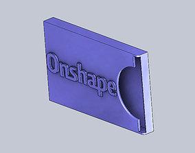 3D printable model Ohshape Mobile Business Card Holder