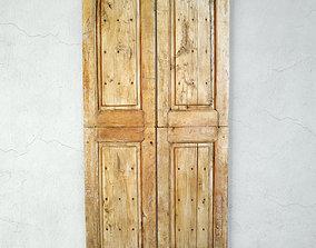 Vintage Teak Farm Doors 3D