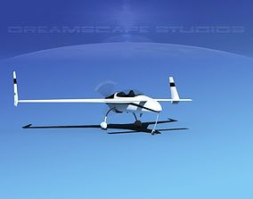 3D model animated Rutan Long-EZ