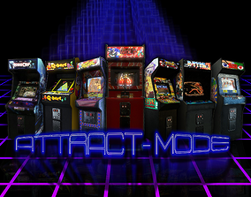 Attract-Mode Arcade Pack volume 01 3D model