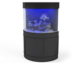 Black Metal Fish Aquarium 3D model