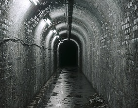 3D asset Underground tunel road