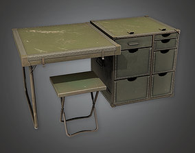 3D asset MLT - Military Furniture Desk 01 - PBR Game Ready