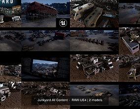 3D model Junkyard All Content - RAW-UE4