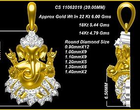 ganapati Pendant ganesh god 3D models 1