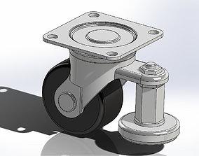 Casters wheel CGAN75-M 3D model cgan75-m