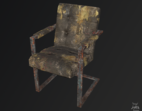 The Post-apocalyptic modern chair 3D asset