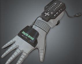 3D model Game Glove Retro 80s
