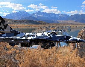 Low Poly F-16 Modern Military War Plane Fighter 3D asset 3