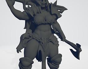 Female Norse Berserker Lord 3D print model