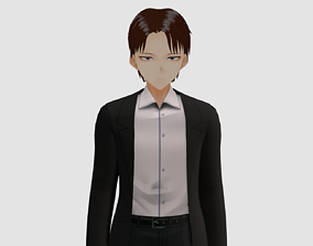 rigged low-poly Levi 3d model