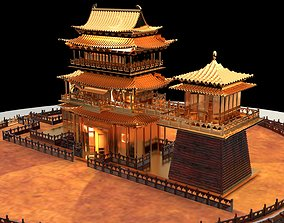 architectural Chinese ancient house 3D model
