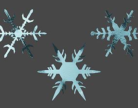 3D asset Snow Flakes