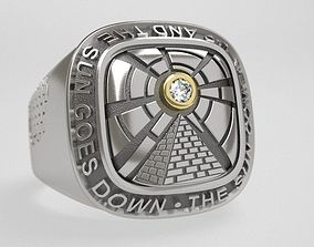 3D print model The sun ring and pendant - original