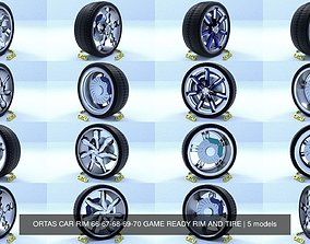 3D ORTAS CAR RIM 66-67-68-69-70 GAME READY RIM AND TIRE