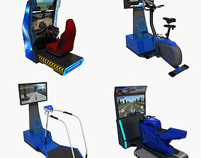 3D model Collection of Arcade Simulator Amusement