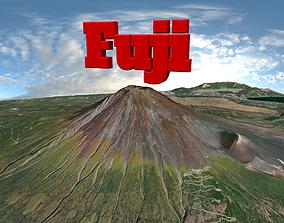 3D asset Fuji volcano