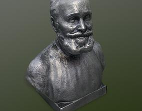 3D asset Metal bust