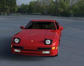 Porsche 944 with Interior HDRI 3D model