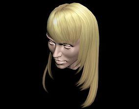 Haircut No 2 - Blond Hair for Woman 3D model