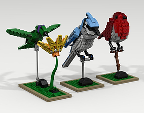 3D model Lego bird pack