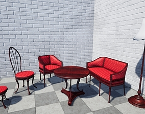luxury furniture pack 3D model realtime